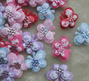 50pcs-2-Tone-Padded-Butterfly-Appliques-craft-baby-A588