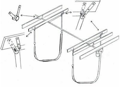Boat lift 6000lb sling kit compounded free shipping for Outboard motor lifting strap
