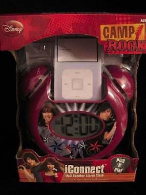 Camp Rock Iconnect Mp3 Speaker Alarm Clockbnib
