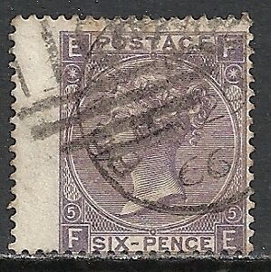 Great Britain 1865 SG 97 Plate 5 CANC VF