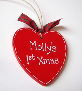 Handmade-Personalised-Heart-Christmas-Tree-Decoration