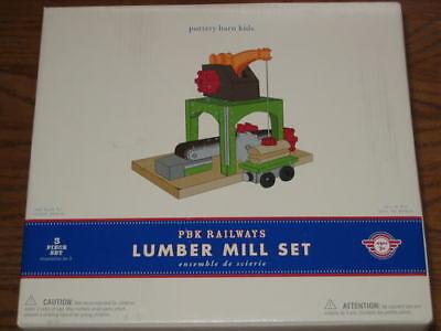 Pottery Barn Kids Pbk Railways Train Lumber Mill Set