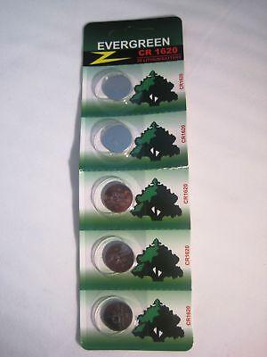 Evergreen Cr1620 3v Lithium Batteries 5 Pack
