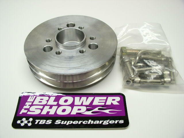 Blower Shop 4225 2 V Accessory Supercharger Pulley With Bolts Small Block Chevy