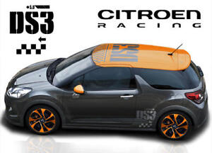 citroen c3 ds3 racing stripes rally stickers full ebay. Black Bedroom Furniture Sets. Home Design Ideas