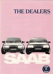 saab 1986 uk market dealer list brochure 900 9000 ebay