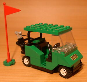 COOL-CUSTOM-GOLF-CART-for-town-city-club-train-LEGO-green-golfer-gift-set-flag