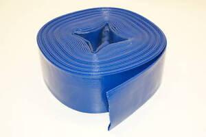 "Industrial Water Pump PVC Lay Flat Discharge Hose - 2"" X 12 Feet 3 Rolls!"