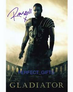 RUSSELL-CROWE-GLADIATOR-SIGNED-PP-PHOTO-MAXIMUS-ROBIN