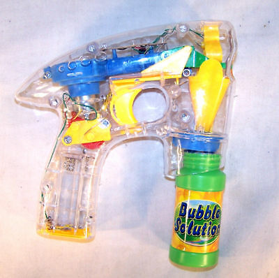 Light Up Bubble Blowing Gun Novelty Guns Toy Bubbles Battery Operated Machine