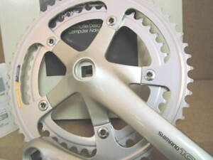 NOS-Shimano-105-Crankset-FC-1055-w-172-5mm-Crankarms-and-53x42-Chainrings