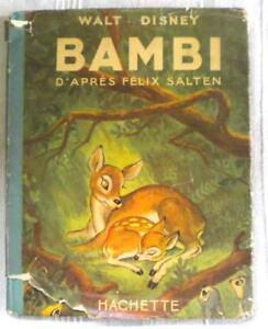 WALT-DISNEY-BAMBI-1948-Hachette-1-edition-francaise