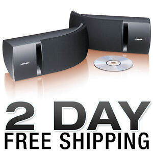 BOSE 161 SPEAKER SYSTEM WITH BRACKETS - BLACK PAIR NEW