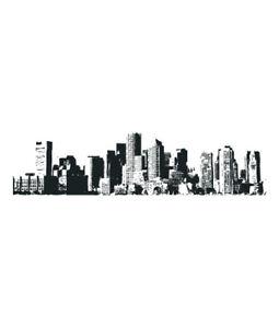 City skyline new york vinyl wall sticker decal quotes ebay for Vinilos pared new york