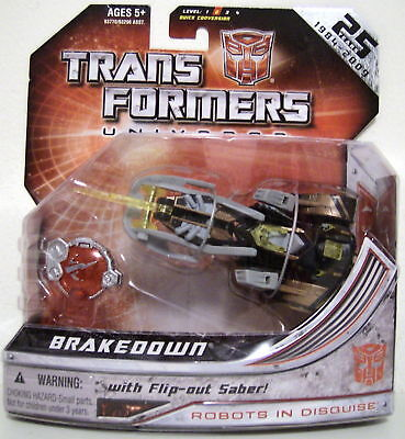 Hasbro Transformers Universe Brakedown with flip out saber Toys