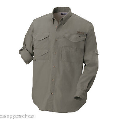 Columbia mens size 2xl 7120 long sleeve bonehead fishing for Columbia fishing shirts on sale