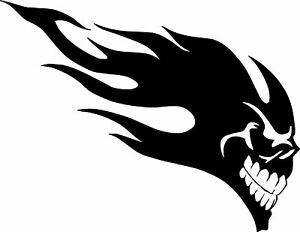 Flaming Skull Tribal Car Camper Van Bike Truck Sticker Ebay