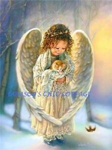 WINTER-ANGEL-W-KITTEN-5X7-FABRIC-BLOCK-COLORFAST