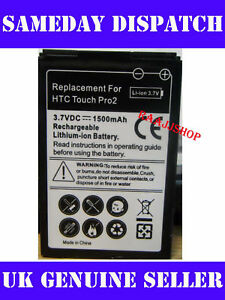 NEW HIGH CAPACITY BATTERY FOR HTC TOUCH PRO2 PRO 2 1500mAH UK SELLER