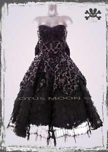 HELL-BUNNY-LAVINTAGE-LONG-BLACK-DRESS-goth-prom-victorian-bride-S-M-L-XL-wedding