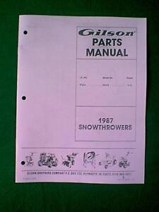 GILSON-MODEL-ST624-55258-SNOWTHROWER-PARTS-MANUAL