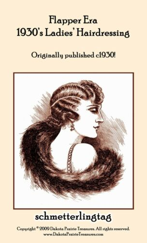 1930s Fashion Books, 30s Fashion History    1930s Hairstyle Book Marcel Waving Flapper Hairstyles $17.99 AT vintagedancer.com