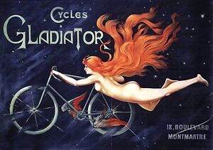 BICYCLE-GLADIATOR-French-advertisement-magnet