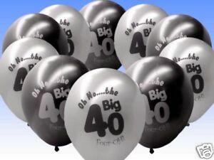 10-Black-Silver-40th-Birthday-11-Pearlised-Balloons