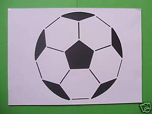 Fußball Schablone Kuchen