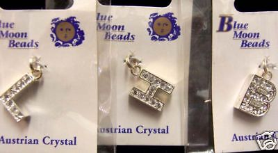 Blue Moon Beads Pendants B H & L Letter Charms Jewelry Making Crafts