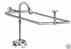 CLAW FOOT ADD-A-SHOWER w/ CURTAIN ROD on Rummage