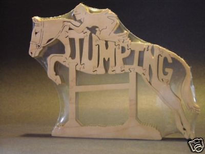 Jumping English Sport Jumper Horse Wood Puzzle Tack Room Toy