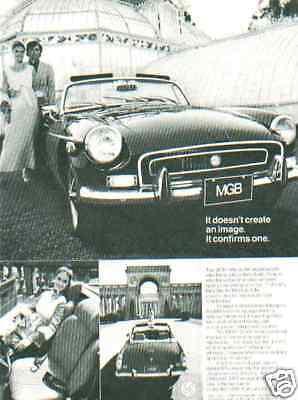 1972 MGB ***ORIGINAL VINTAGE AD***