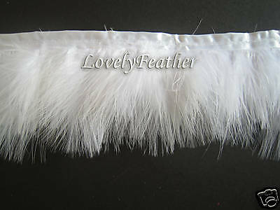 - Marabou Feather fringe of white colour 2 yards trim
