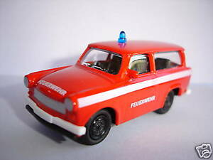 trabant trabi 601 combi pompiers rda voiture miniature 1 64. Black Bedroom Furniture Sets. Home Design Ideas