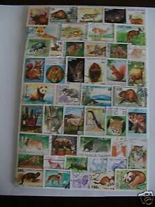 TIMBRES-ANIMAUX-SAUVAGES-300-TIMBRES-TOUS-DIFFERENTS-WILDLIFE-STAMPS