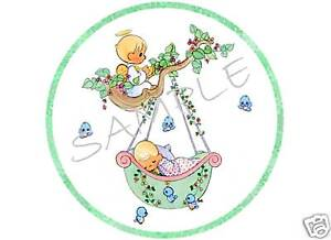 details about edible cake image precious moments baby shower cir