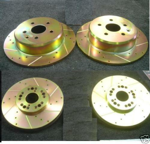 LEXUS GS430 DRILLED GROOVED BRAKE DISC FRONT REAR