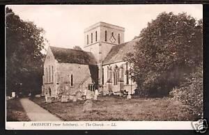 LL-Levy-1-Amesbury-near-Salisbury-The-Church-Sepia
