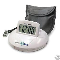 NEW Sonic Alert SBP100 Sonic Boom Portable Vibrating Alarm Clock