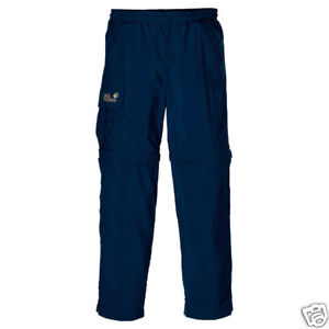 Jack Wolfskin Neu  ZIP OFF PANT KIDS night blue Gr.116