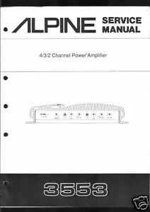Alpine-Original-Service-Manual-Car-Amplifier-3553
