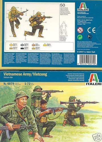 ITALERI 6079 - VIETNAMESE ARMY VIETCONG VIETNAM. 1/72 SCALE PLASTIC FIGURES