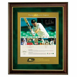 RICKY PONTING  PRIDE OF THE BAGGY GREEN  SIGNED PRINT