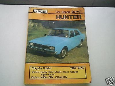 CHRYSLER HUNTER & VARIANTS 1967-1979 WORKSHOP MANUAL