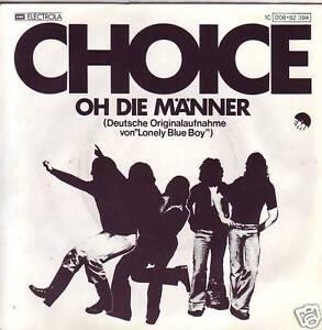 """""""7"""" - CHOICE (J. de NIJS) - Oh die Männer - sehr RAR !! - Zwettl, Österreich - CHOICE (J. de NIJS) - Side A: Oh die Männer Side B: Laß dich geh`n EMI Electrola 1C006-82394 aus 1977 - Germany Zustand: Cover: sehr gut und Vinyl: sehr gut Versand/Verpackungungskosten: für Österreich: 1 - 5 Singles: 3,50 Euro f - Zwettl, Österreich"""