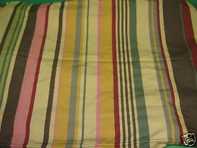 Pottery Barn Zoe Duncan Multi Stripe Slipcover For Sofa Chair Ottoman 27x20
