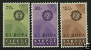 Cyprus-1967-Scott-297-299-MNH-Set
