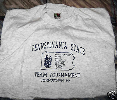 Pa State Team (bowling) Tournament Tee Shirt - Free Shipping