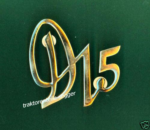Deutz  Emblem  Messing  D15  F1L712  Traktor D 15 Schlepper  Foto 1